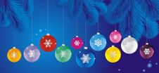 Free Set Of Christmas Tree Ball Royalty Free Stock Image - 20375536