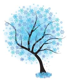 Free Frozen Winter Tree. Vector Illustration. Royalty Free Stock Image - 20376166