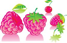 Free Pink Ripe Raspberries Stock Image - 20376201