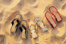 Free Three Pair Of Sandals Stock Photos - 20376573