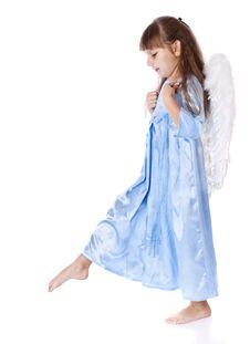 Free A Small Beautiful Angel Girl Stock Photo - 20377160
