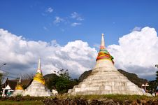 Free Pagodas Three In Kanchanaburi, Thailand Stock Photos - 20377723
