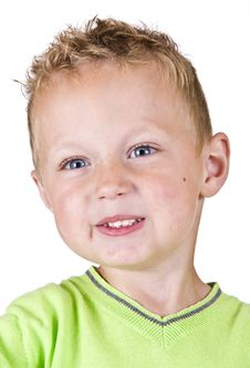 Free Portrait Of Young - Shy Boy Isolated Royalty Free Stock Images - 20378089