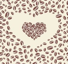 Coffee Bean Heart Stock Photos