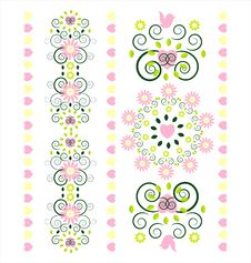 Free Vertical Ornament With Flower Stock Photo - 20379720