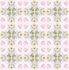 Free Pattern With Flower Seamless Texture Royalty Free Stock Photography - 20379767