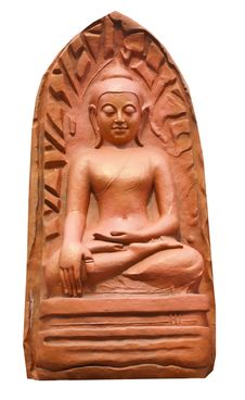 Clay Buddha Royalty Free Stock Photography