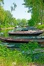Free Anchored Boats Stock Photo - 20384810