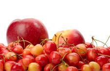 Ripe Cherry, Apple And Nectarine Royalty Free Stock Image