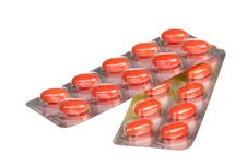 Free Close Up Orange Capsules And Blisters Stock Photography - 20380042
