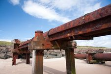 Free Sewage Outlet Pipe On A Beach Royalty Free Stock Photography - 20380287