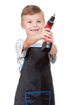 Free Boy With Tools Royalty Free Stock Photo - 20380465