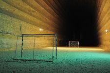 Free Football Area Underground Royalty Free Stock Image - 20380686