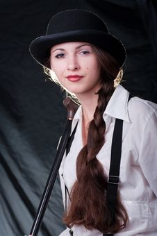 Clockwork Girl Royalty Free Stock Photo