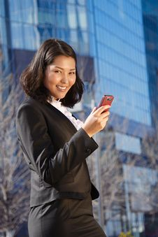 Portrait Of A Cute Business Woman Stock Photography