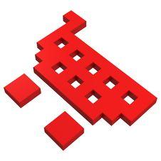 Free 3d Basket Pixel Icon Stock Photo - 20382880