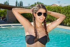 Free Beautiful Woman In Bikini Next To Swimming Pool Royalty Free Stock Images - 20383129