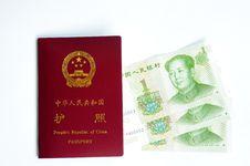 Free Chinese Passport And Money Royalty Free Stock Photo - 20383485