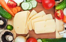 Free Fresh Vegetables And Cheese Stock Photo - 20383500