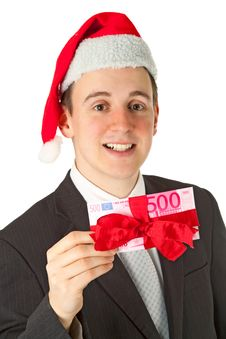 Free Businessman With Chrismas Hat Royalty Free Stock Images - 20383529