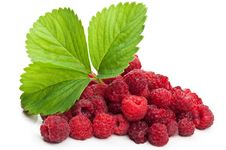 Free Fresh Raspberry And Green Leaf Stock Photos - 20383553