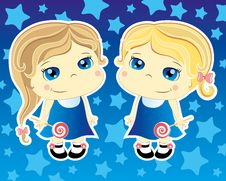 Free Two Little Girls Stock Image - 20383591