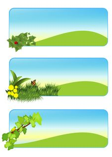 Free Summer Banners, Cdr Vector Stock Photography - 20383742
