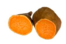 Free Sweet Potato,isolated On White Background Stock Photos - 20384413