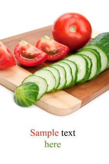 Free Fresh Red Tomato And Cucumber Royalty Free Stock Photography - 20385067