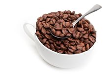 Free Full Cup With Coffee Beans Stock Images - 20385174