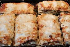 Free Lasagne Just From The Oven Royalty Free Stock Photography - 20385277