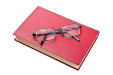 Free Glasses And Red Book Royalty Free Stock Photography - 20385377