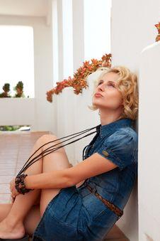 Free Portrait Of  Beautiful  Blonde Woman Stock Photo - 20385510