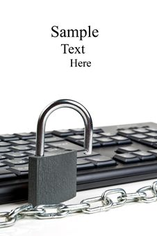 Free Computer Keyboard And Lock Royalty Free Stock Photography - 20385627