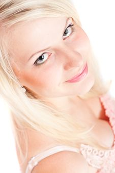 Beautiful Blond Girl Stock Images