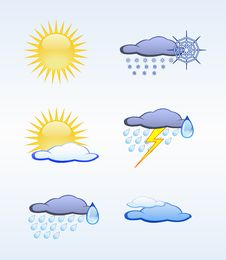 Free Weather Icons. Stock Images - 20386414
