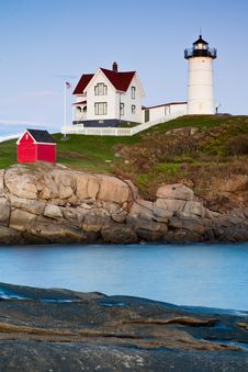 Nubble Lighthouse, Cape Neddick, Maine, USA Stock Photo
