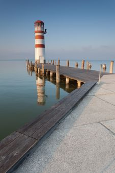 Lighthouse On Neusiedler See Royalty Free Stock Photography