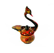 Free Traditional Russian Painted Wooden Art - Khokhloma Stock Photo - 20386550