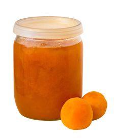 Free Apricot Jam Jar Stock Photography - 20386552