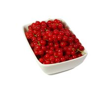 Free Fresh Red Currant Berry At White Background Royalty Free Stock Photography - 20386577