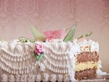 Free Wedding Cake, Insade Layers Royalty Free Stock Images - 20386819