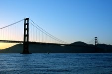 Free Golden Gate Bridge At Sunset Royalty Free Stock Image - 20386936
