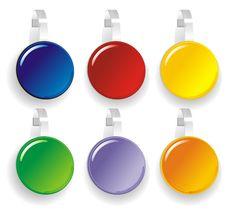 Color Paper Wobbler Stock Images
