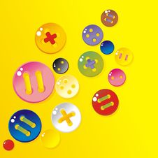 Free Sprinkle Color Buttons Stock Photos - 20387793