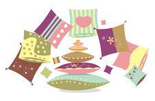 Free Multi-coloured Pillows Royalty Free Stock Photos - 20388128