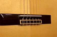 Free Close Up Of Classical Guitar Bridge Stock Photography - 20388342