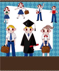 Free Cartoon Student Card Stock Images - 20389074