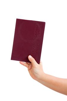 Free Notebook In Hand On A White Background Royalty Free Stock Photography - 20389557