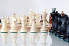 Free Chess Pieces On Wood Board Royalty Free Stock Photo - 20389655